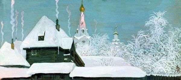 冬天的早晨   安德烈Ryabushkin
