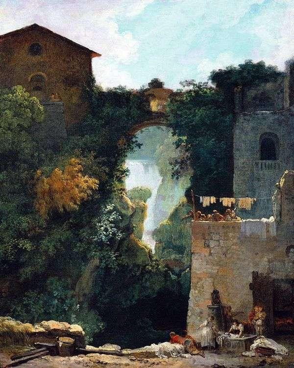 蒂沃利的Grand Cascade   Jean Honore Fragonard