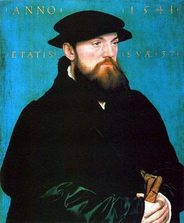 Bos van Stenwijk的肖像   Hans Holbein