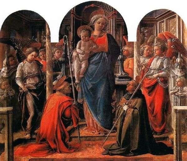 麦当娜和儿童被天使包围,圣徒弗雷迪亚诺和奥古斯丁   菲利波里皮