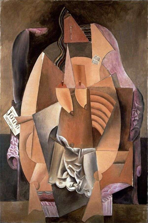 坐在椅子的衬衣的一名妇女   巴勃罗毕加索