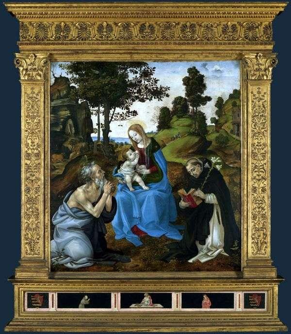 麦当娜和儿童与圣徒杰罗姆和多米尼克   菲利皮诺里皮
