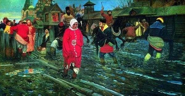 17世纪的莫斯科街道一个假日   安德烈Ryabushkin