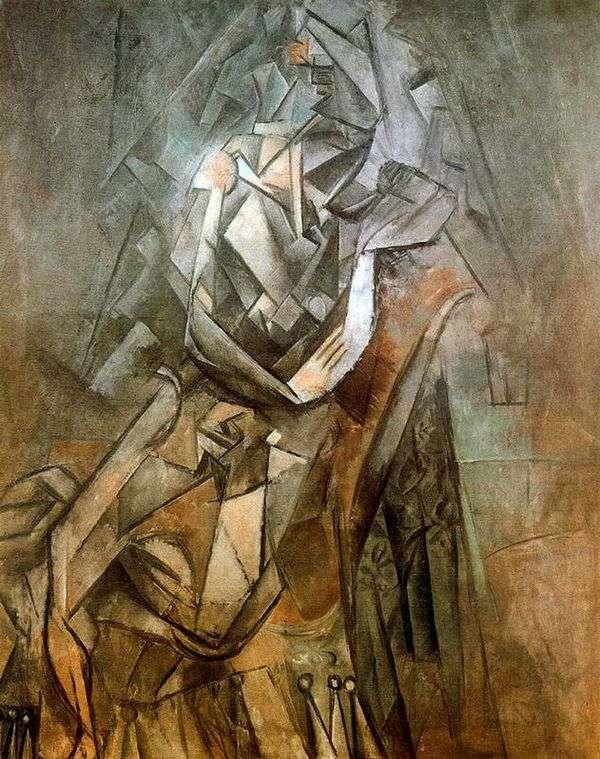 坐在椅子的妇女   巴勃罗毕加索