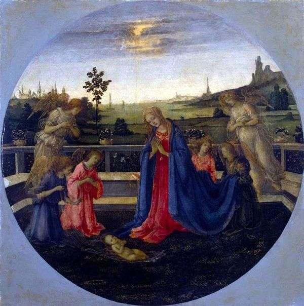 对基督孩子的崇拜   Filippino Lippi