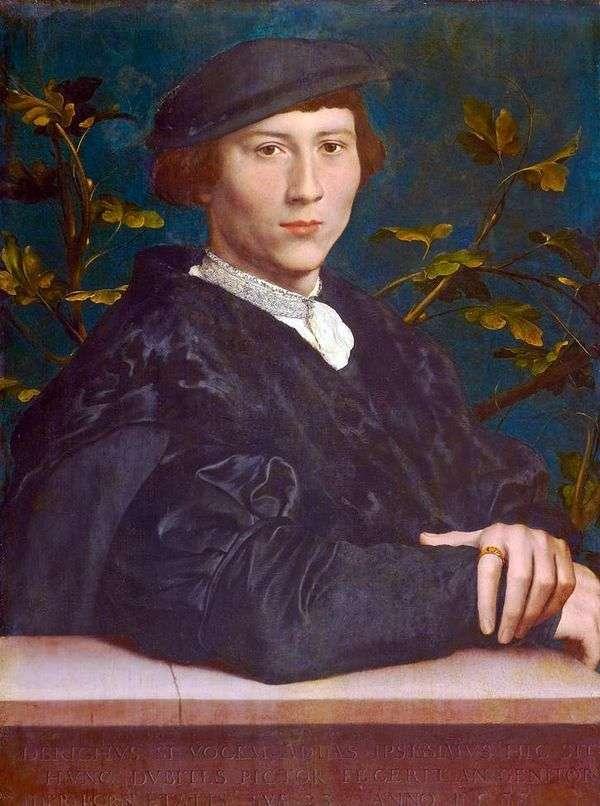 Derik Born的肖像   Hans Holbein
