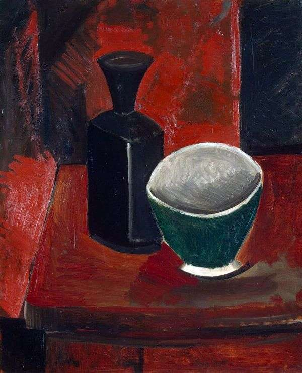 绿色碗和黑瓶   巴勃罗毕加索