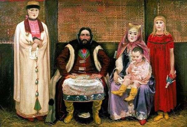 商人的家族在17世纪   安德烈Ryabushkin