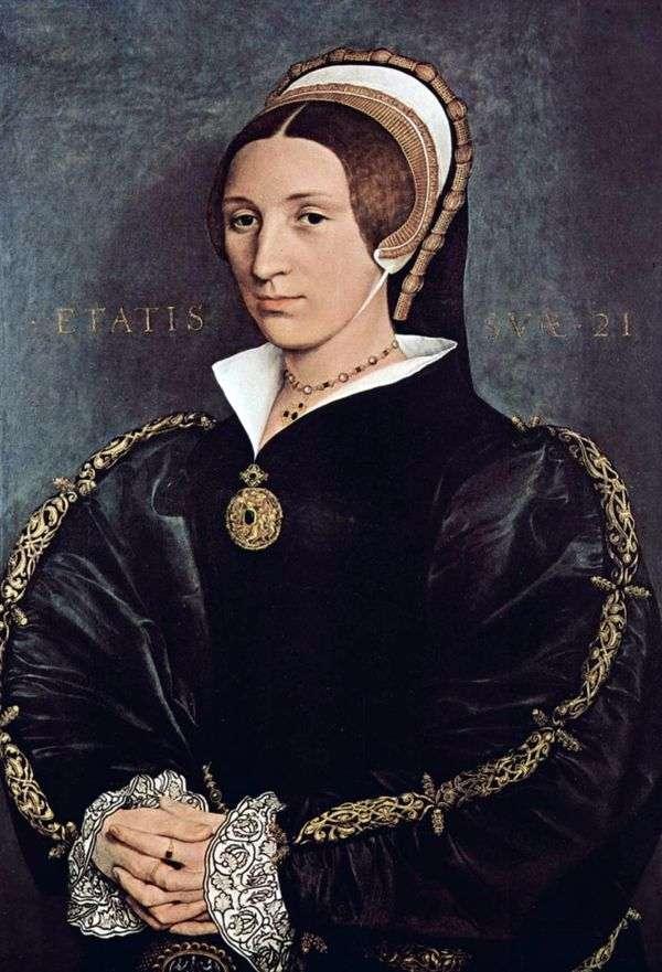 凯瑟琳娜霍华德的肖像,亨利八世的第五任妻子   汉斯霍尔宾