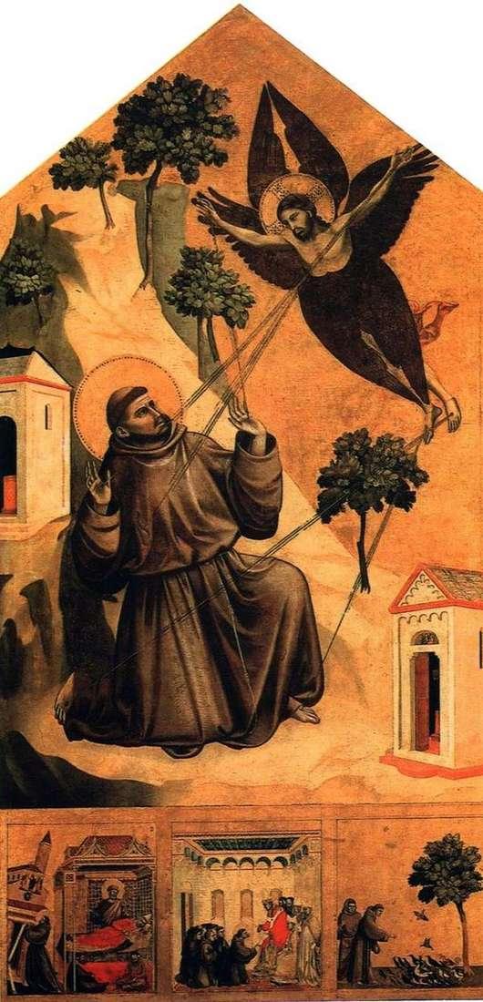 接受耻辱的圣弗朗西斯,有三个生活场景   乔托迪邦多内
