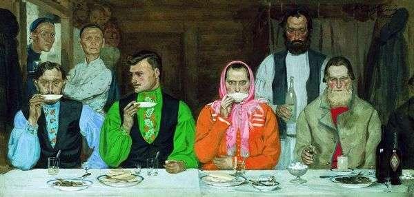 喝茶   安德烈Ryabushkin