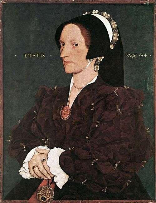 玛格丽塔白夫人李   汉斯霍尔拜因的肖像