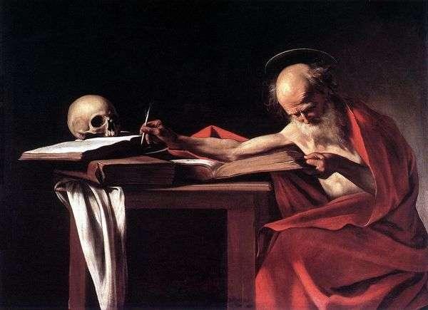 圣杰罗姆在书   米开朗基罗梅里西达卡拉瓦乔