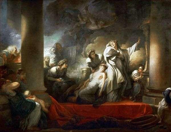 牧师Korez为了Calliroi而牺牲自己   Jean Honore Fragonard