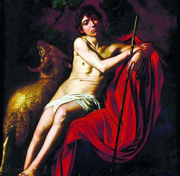 施洗者圣约翰   米开朗基罗梅里西达卡拉瓦乔