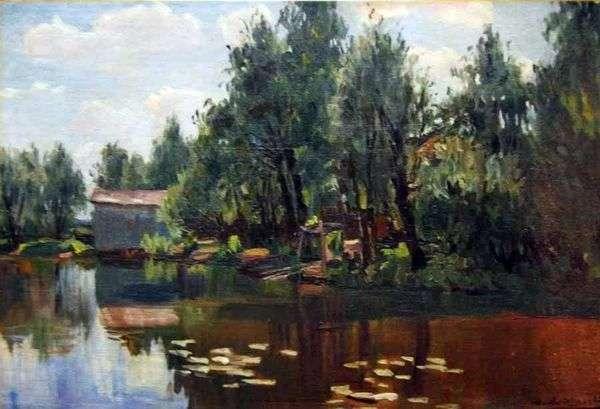 池塘   在Manuil Khristoforovich Aladzhalo
