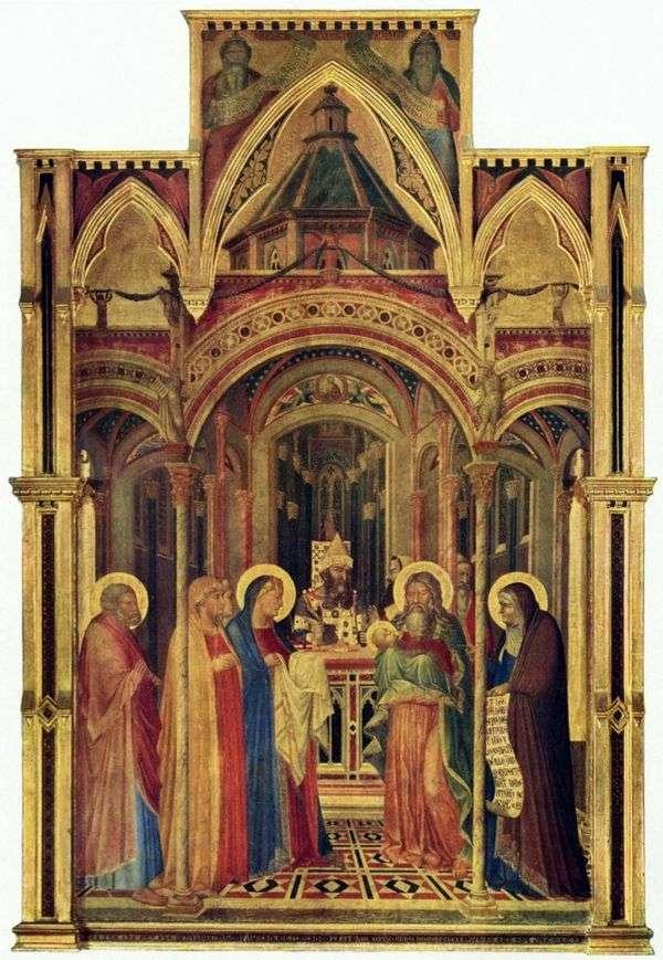 带进寺庙   Ambrogio Lorenzetti