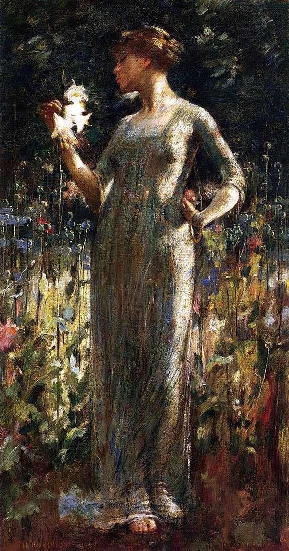 夜之女(一束百合花的女孩)   约翰怀特亚历山大