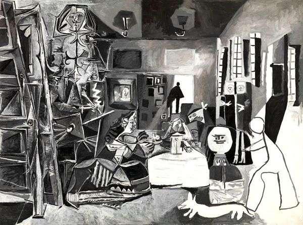 Velasquez的Meninas   Pablo Picasso
