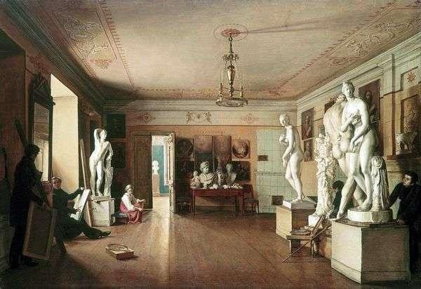 艺术家A. G. Venetsianov在彼得堡的工作室   Alekseev亚历山大