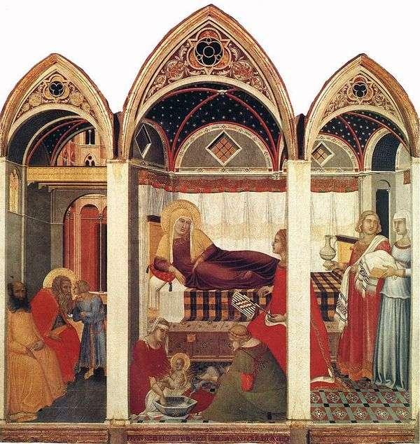 玛丽的诞生   Pietro Lorenzetti