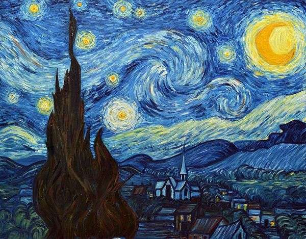 繁星之夜   文森特梵高