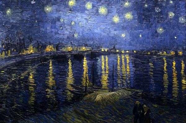 罗纳的繁星之夜   文森特梵高