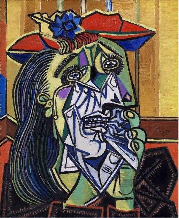 哭泣的女人   巴勃罗毕加索