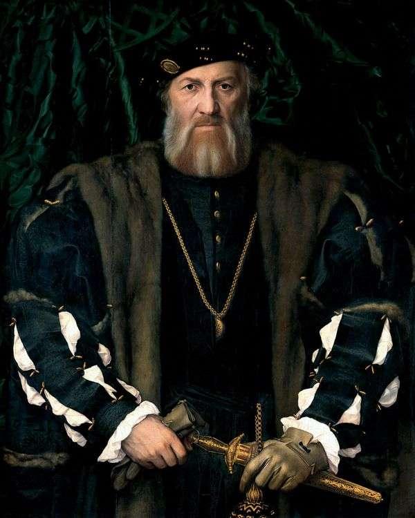 法国驻英国大使莫雷特 查尔斯 索利尔爵士的肖像   汉斯 霍尔拜因