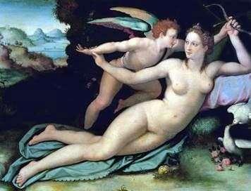 金星和丘比特   Alessandro Allori
