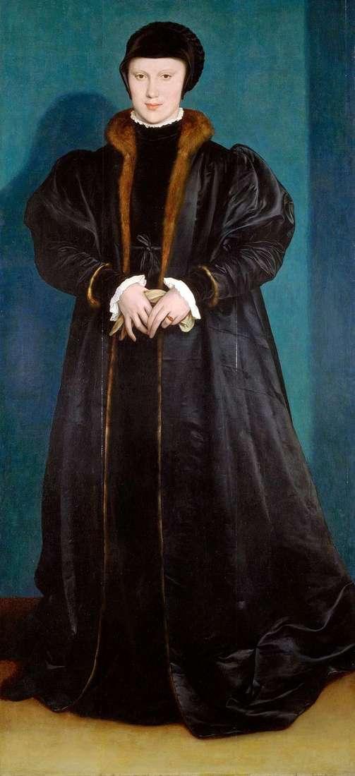克里斯蒂娜丹麦的肖像   汉斯霍尔拜因
