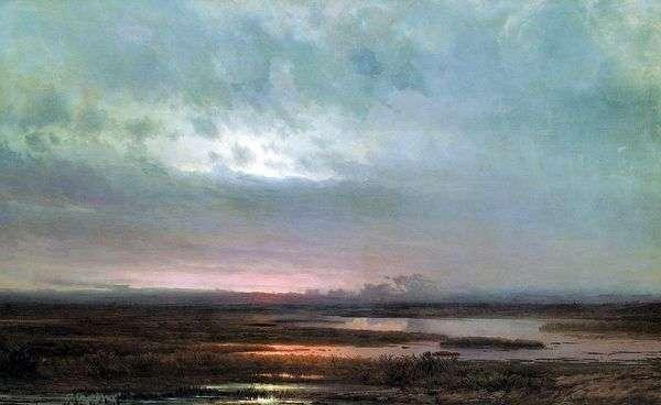 落日在沼泽   阿列克谢Savrasov