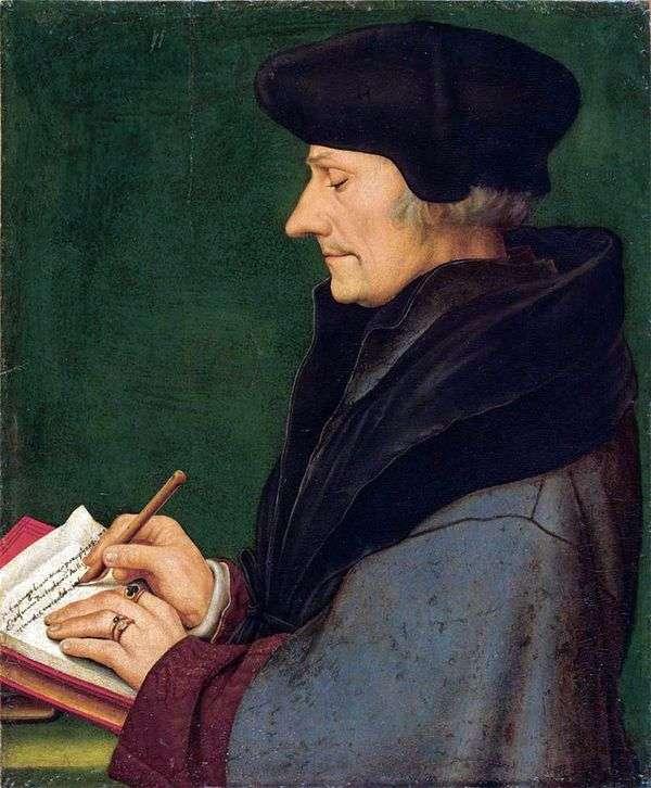 鹿特丹伊拉斯谟的肖像   汉斯霍尔拜因