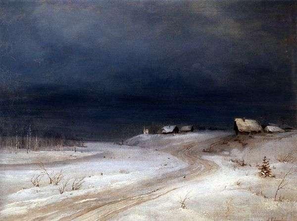 冬季景观   阿列克谢萨夫拉索夫
