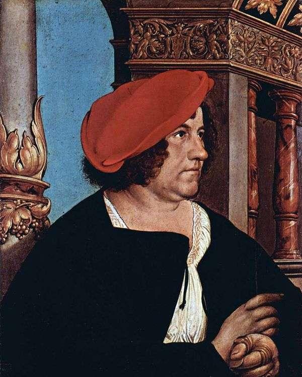 Jacob Mayer的肖像   Hans Holbein