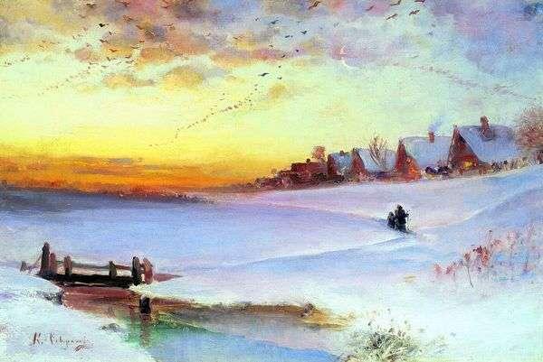 冬季景观(解冻)   Alexey Savrasov
