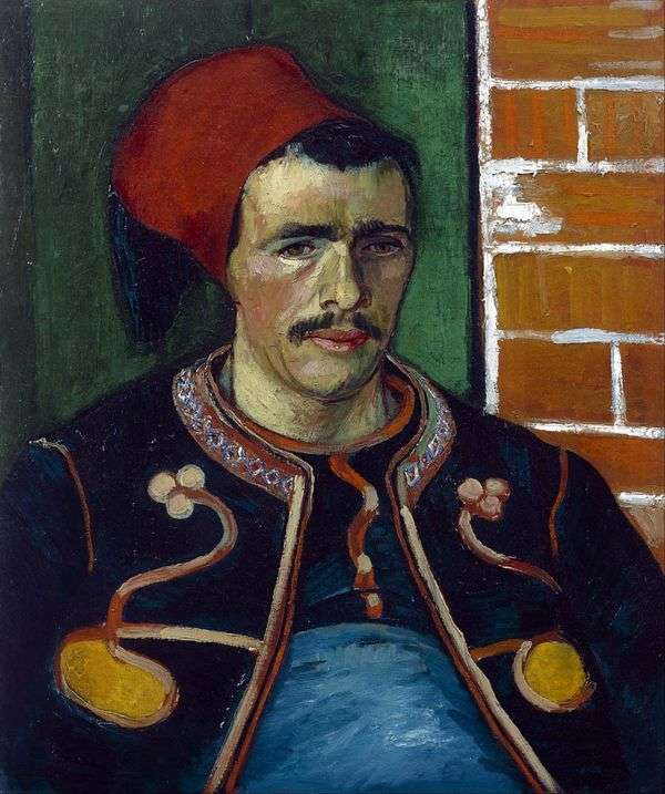 Zuav(半身人像)   Vincent Van Gogh