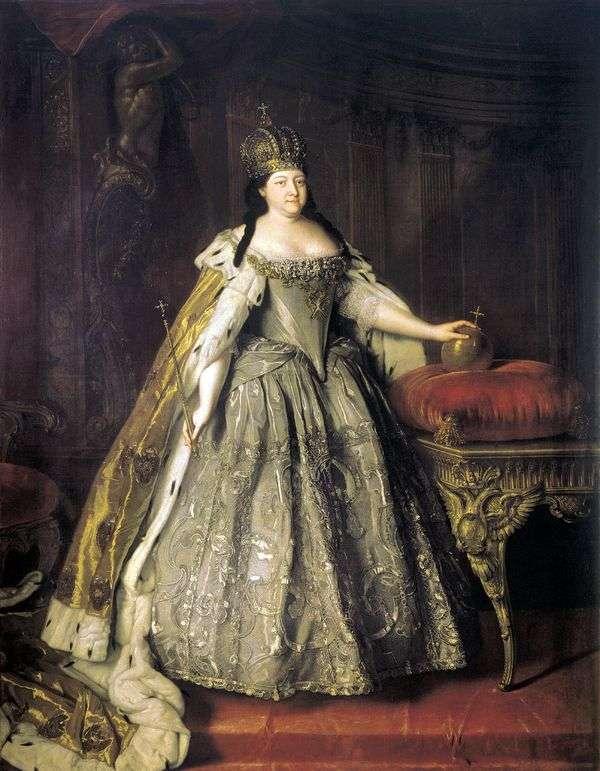 女皇安娜Ioannovna   Louis Caravaque的肖像