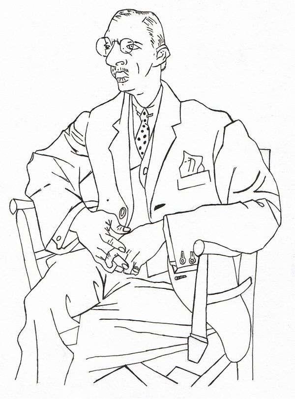 Igor Stravinsky的画像   Pablo Picasso