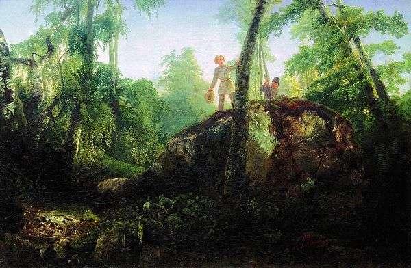 石头在溢出的森林里   阿列克谢Savrasov