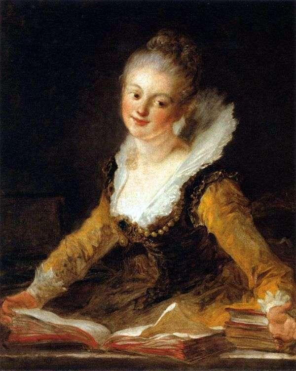 作为科学缪斯的夫人的画象   吉恩Honore Fragonard