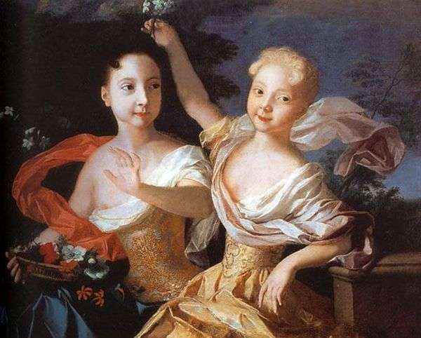 Tsarevna Anna Petrovna和Elizaveta Petrovna   Louis Caravaque的肖像