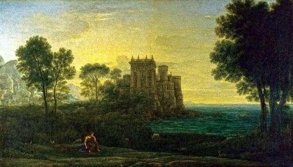 环境美化与丘比特的宫殿背景的灵魂   克劳德Lorrain