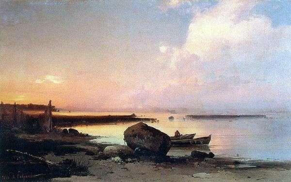 在Oranienbaum附近的海滨   Savrasov