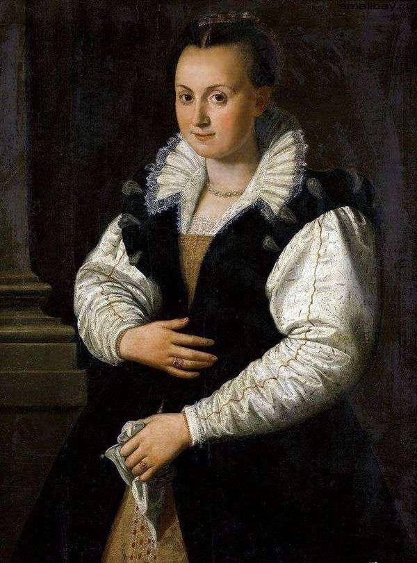 一位女士的肖像   Alessandro Allori