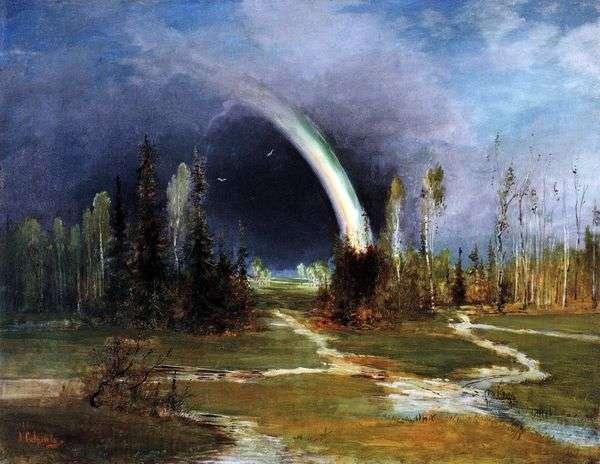 与彩虹的风景   Savrasov