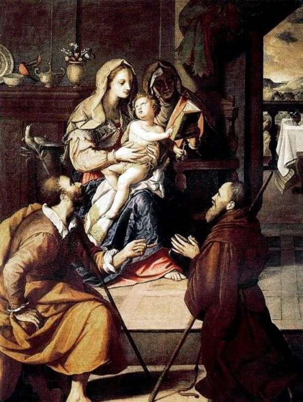 神圣家族和红衣主教Medici   Alessandro Allori