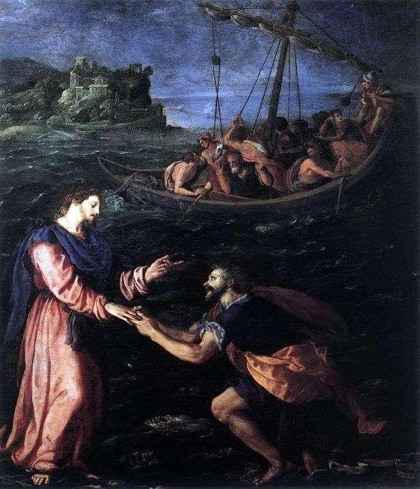 圣彼得走在水面上   亚历山德罗Allori