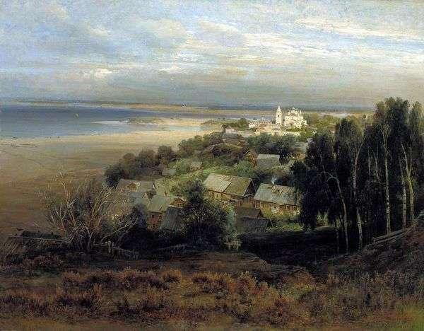在Nizhny Novgorod附近的Pechersky修道院   Alexey Savrasov