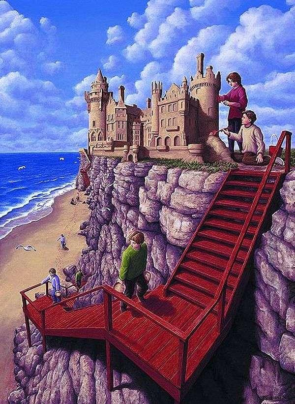 在峭壁的城堡   Rob Gonsalves